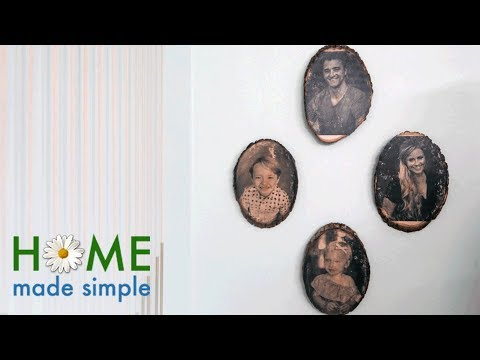"How to ""Print"" Pictures onto Wood Slabs for a Rustic Photo Display 