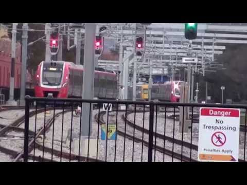 Adelaide Showground Railway Station afternoon rush period video 2015