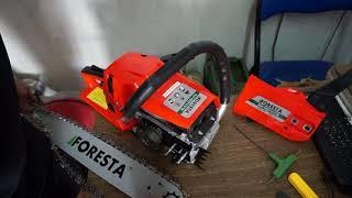 обзор-сборка бензопилы Foresta FA-58S