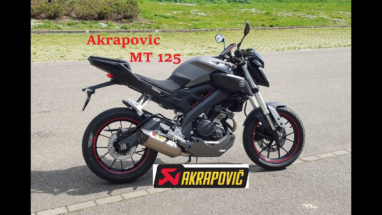 montage akrapovic mt 125 youtube. Black Bedroom Furniture Sets. Home Design Ideas