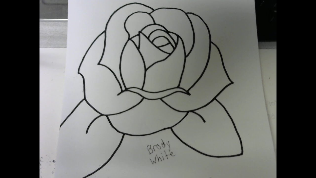 Traditional Rose Drawing Tutorial