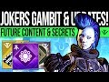 Destiny 2 | JOKERS GAMBIT & FUTURE UPDATES! Jokers Wild Concern, DLC Secrets, Game Feedback & Quests