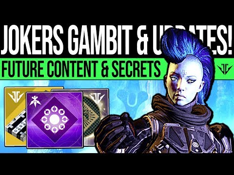 Destiny 2 | JOKERS GAMBIT & FUTURE UPDATES! Jokers Wild Concern, DLC Secrets, Game Feedback & Quests thumbnail