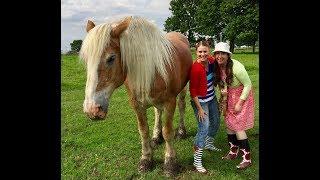 Amandine et Rosalie à la ferme