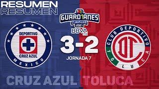 Resumen y goles | Cruz Azul 3-2 Toluca | Torneo Guard1anes 2021 BBVA MX J7 | TUDN