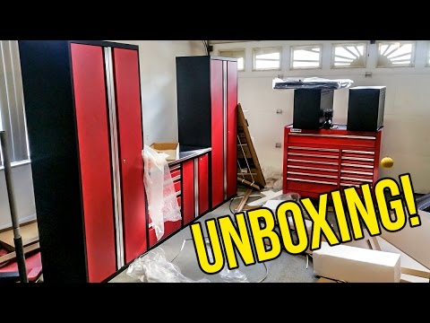 Unboxing My New Garage Tool Cabinets