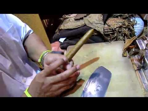 Making a cigar, George Town, Grand Cayman, Cayman Islands, Caribbean, North America