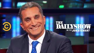 بالفيديو باسم يوسف يهاجم أمريكا معجون ستيوارت