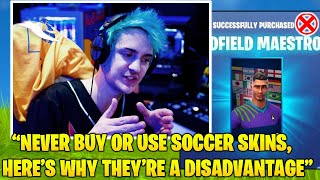 Ninja Explains Why NEVER To Buy Or USE *RARE* Soccer Skins.. (Fortnite FUNNY & Daily Best Moments)