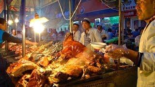 新疆烏魯木齊五一星光夜市美食街 Delicious food street (China)