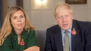 Boris Johnson and Carrie Symonds thank NHS staff: