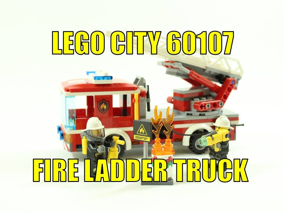 Lego City 2016 Fire Ladder Truck 60107 Set Review Youtube