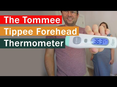 Reviewing The Tommee Tippee Digital No-touch Forehead Thermometer