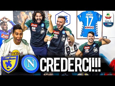 CREDERCI!!! CHIEVO 1-3 NAPOLI | LIVE REACTION NAPOLETANI HD