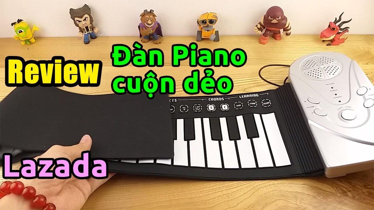Trên tay đàn Piano điện tử cuộn dẻo