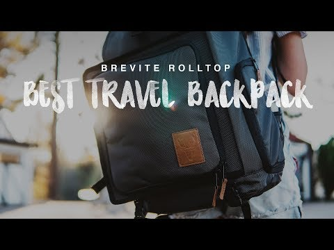 Brevite Rolltop Review...BEST CAMERA BACKPACK FOR TRAVEL!!
