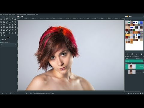 Gimp 2.10.12 - Skin Retouching with Frequency Separation