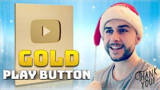 MY MOST SPECIAL VIDEO EVER!! - YOUTUBE 1 MILLION SUBSCRIBERS GOLD PLAY BUTTON UNBOXING