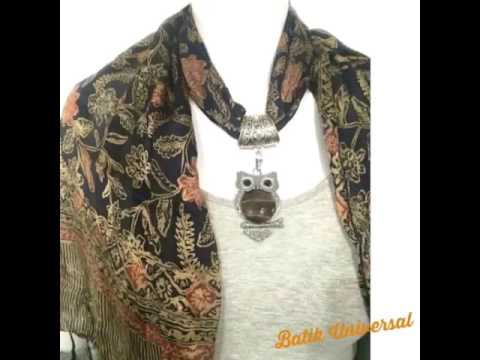 Silk Batik Scarf Indonesia