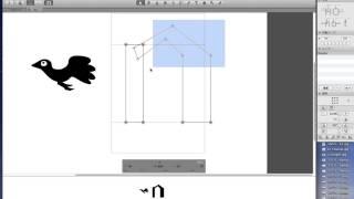 書体制作ソフトGlyphsでのアウトラインの描き方などの基本操作をレクチ...