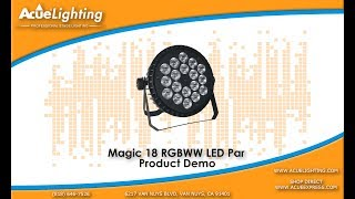 Magic 18 RGBWW LED Slim Par