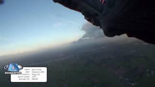 Phoenix-Fly Stealth2 – Wingsuit Canopy Flyby (8.28 mph lowest speed:)