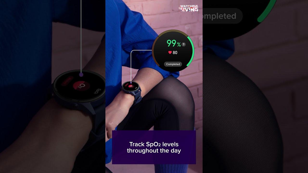 Mi Watch Revolve Active : SpO2 (Blood Oxygen Saturation Monitor)