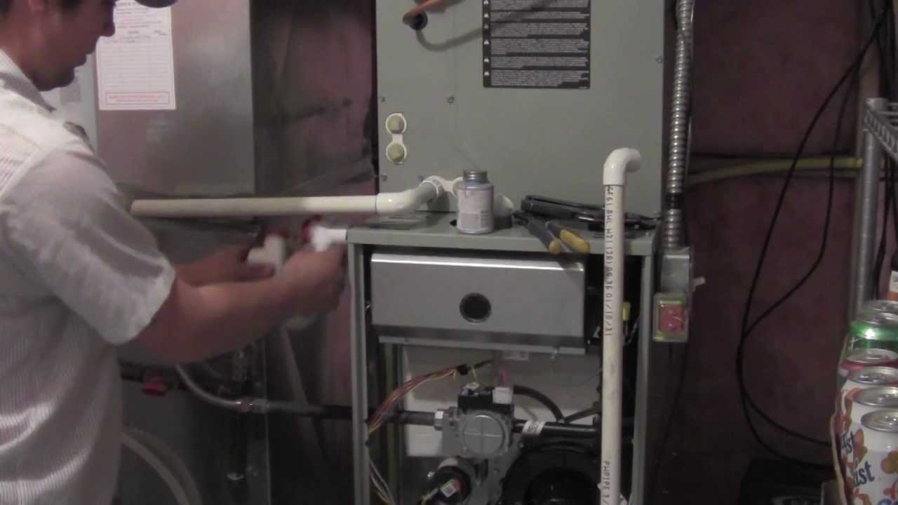 Furnace Drain Install - YouTube