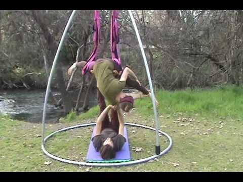 interm acro yoga swing thigh pads  youtube