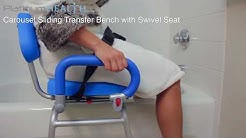 Bath Chair For Elderly - Carousel Sliding Transfer Bench with Swivel Seat 2018