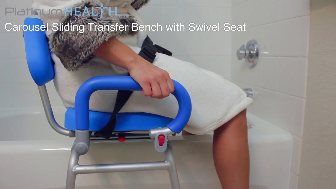 Bath Chair For Elderly Carousel Sliding Transfer Bench With Swivel Seat 2018 Youtube