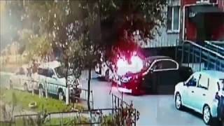 поджог автомобиля в Хабаровске