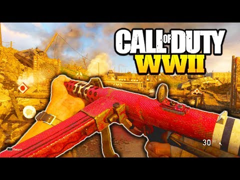 """*NEW* STERLING is AWESOME in CALL OF DUTY WW2! NEW DLC WEAPONS EPIC """"STERLING GAMEPLAY COD WW2"""""""
