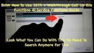 BMW ISTA D How To Use ISTA D Service Functions & Call Up Ecu Functions Walkthrough For E46 E39 E53
