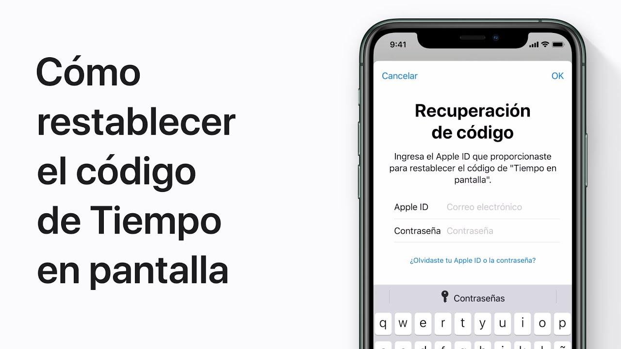 Cómo restablecer el código de Tiempo en pantalla — Soporte técnico de Apple