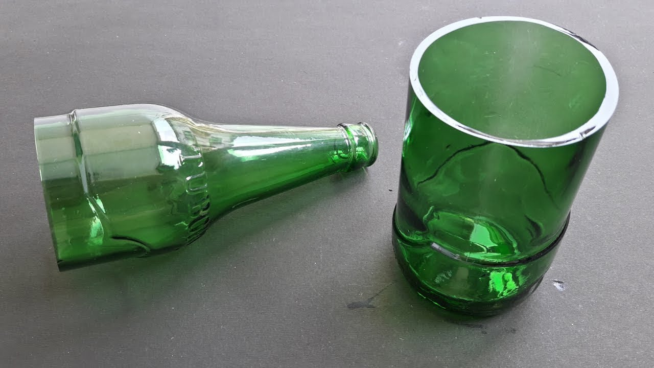 how to cut glass bottle at home - YouTube