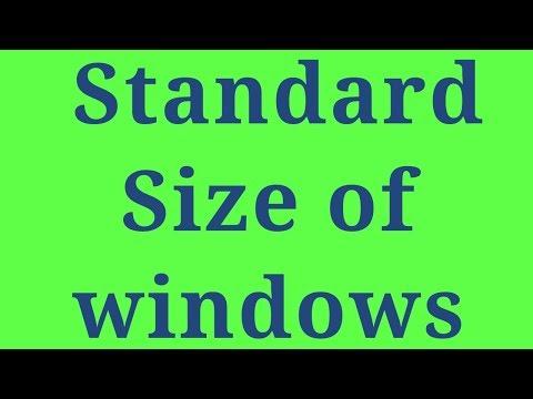 standard size of CS windows