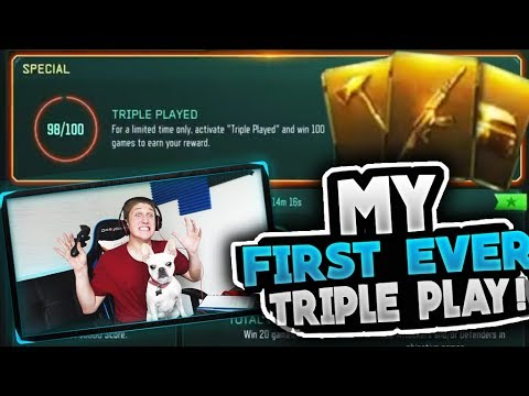 """my first ever """"TRIPLE PLAY"""" opening..."""