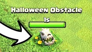 WHAT HAPPENS WHEN YOU REMOVE THE NEW HALLOWEEN OBSTACLE IN CLASH OF CLANS!- - WHATS INSIDE!-