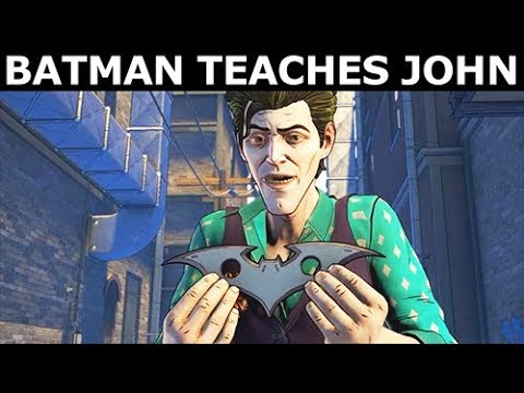 Batman Teaches John Doe How To Use a Batarang - BATMAN Season 2 The Enemy Within Episode 3