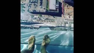 Glass Bottom Pool Overhang From Skyscraper