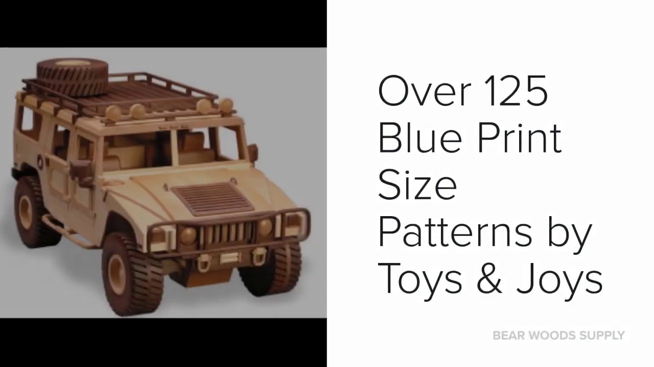 wood toy plans - buy wood model car and truck patterns