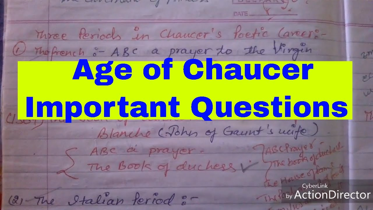 HIStory of English literature ॥ Chaucer's works and period ॥ dsssb॥ tgt pgt  ॥