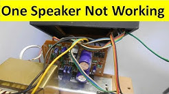 Top 3 Reason Why One Speaker of Your Music System is Not Working