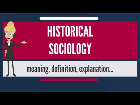 What is HISTORICAL SOCIOLOGY? What does HISTORICAL SOCIOLOGY mean?
