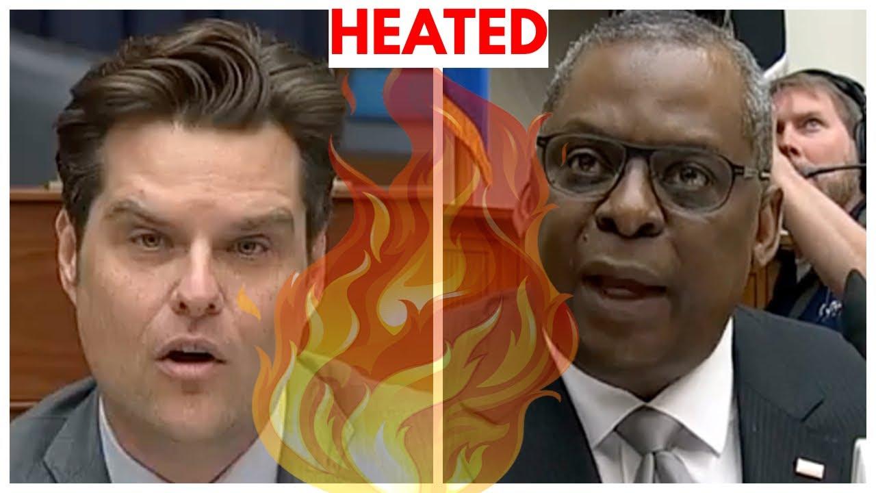 HEATED: Representative Matt Gaetz CLASHES with Defense Secretary Austin Over Critical Race Theory!