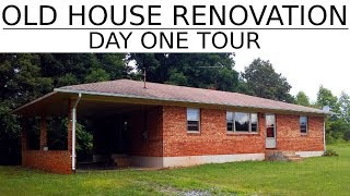 Old House Renovation - Day One Tour - #2