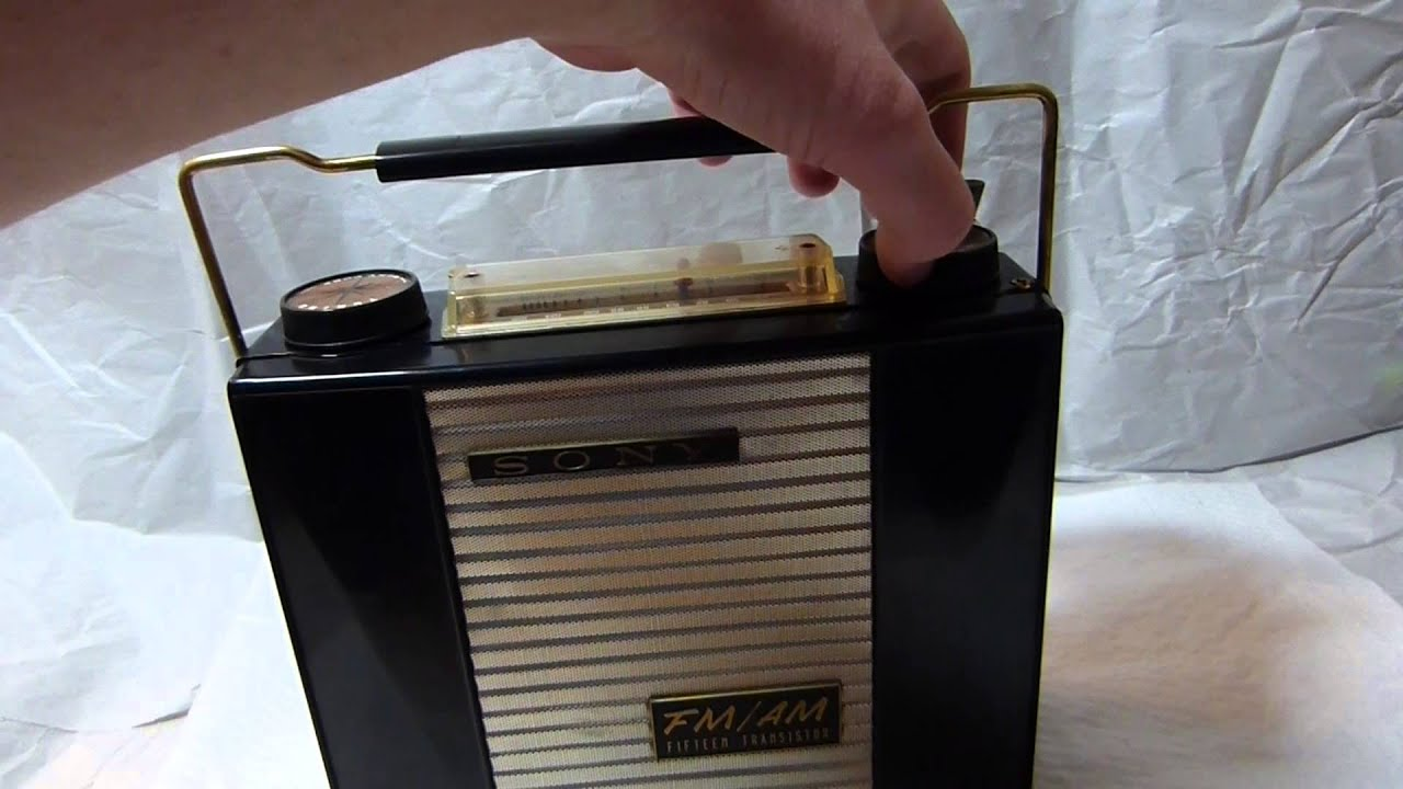 Sony Tfm-151  The Worlds First Fm Transistor Radio  Made In In 1958