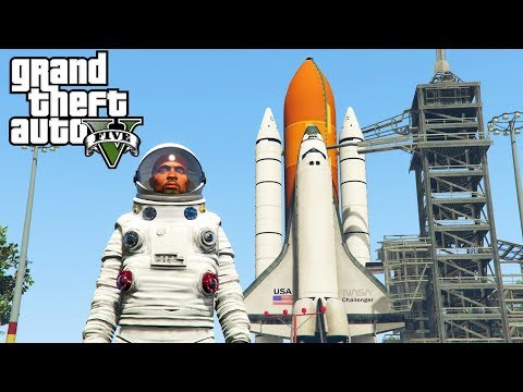GTA 5 - GOING TO SPACE! Mars Rover GTA 5 Space Battles Mod (GTA 5 Mods)