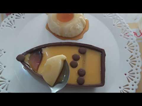 Ovo de pudim/Barca de Pudim/Barca de chocolate/ovo de colher de pudim/ páscoa
